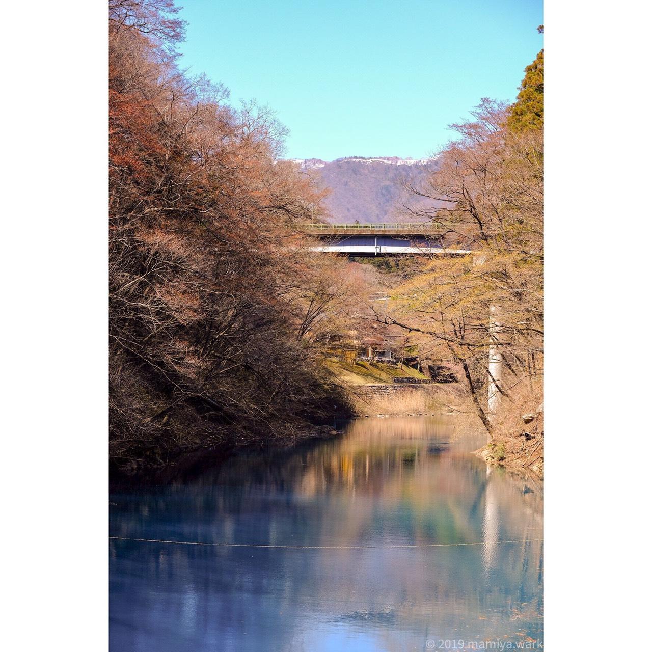 川の水リフレクション