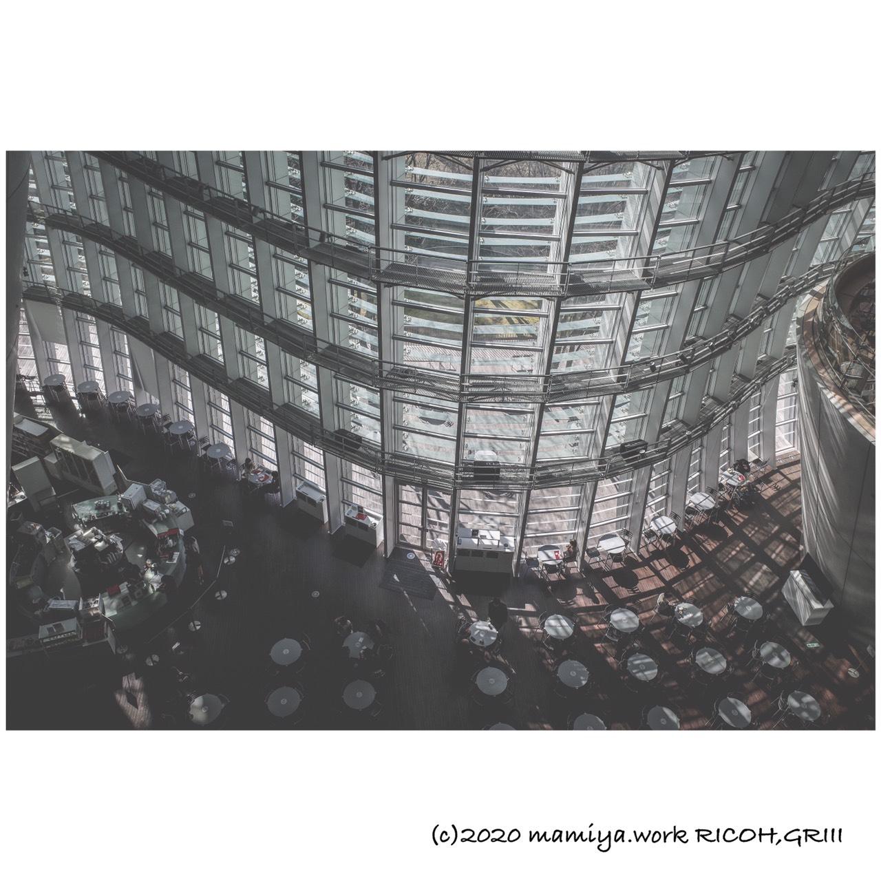 国立新美術館3階から俯瞰